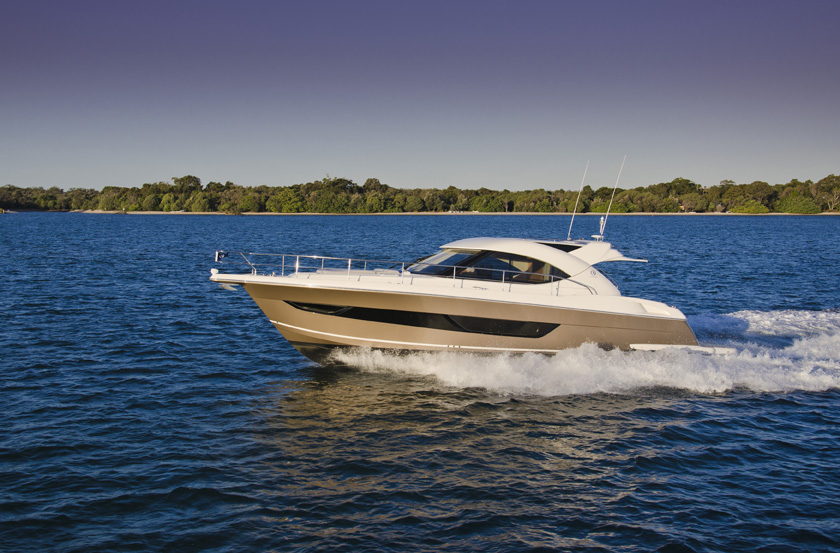 New Riviera 4400 Sport Yacht Series II motor yacht at the Club Marine ...