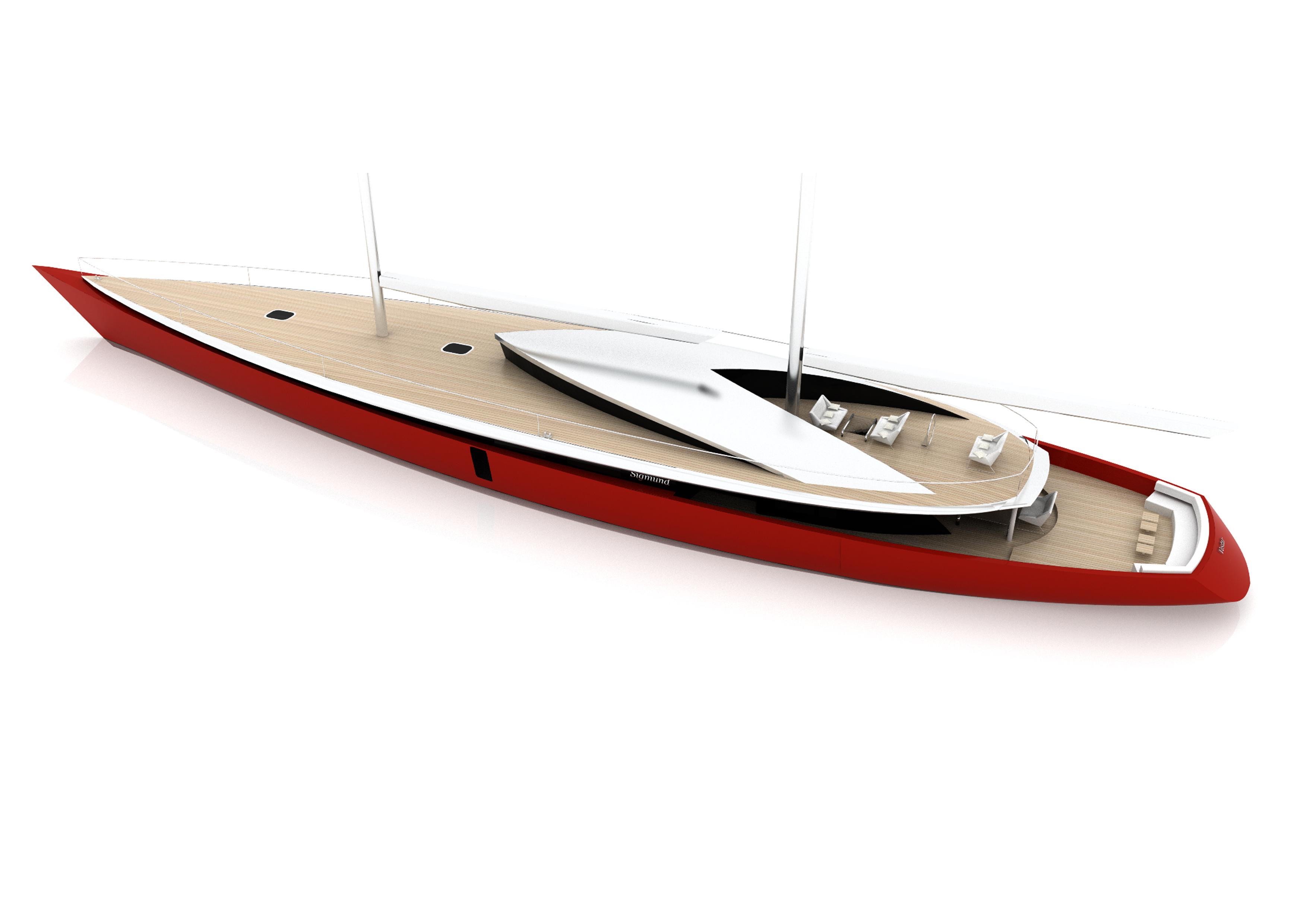 60m Vestar yacht concept by Sigmund Yacht Design sailing yacht concept designs on boat wiring diagram