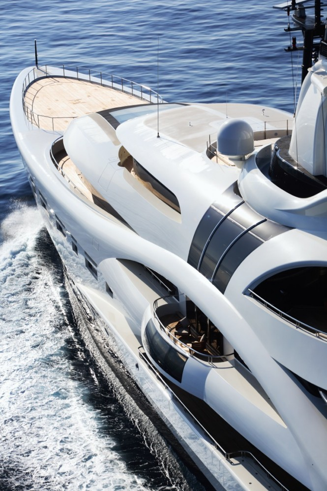 96m motor yacht Palladium designed by Michael Leach Design