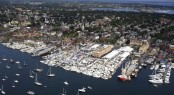 Aerial View of Newport Harbour - Photo Credit Newport International Boat Show