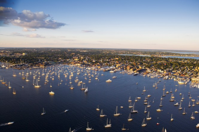 Aerial View of Newport Harbour - Photo Credit Onne van der Wal