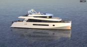 Alu Marine 65 ft trawler catamaran by Sterling Design International