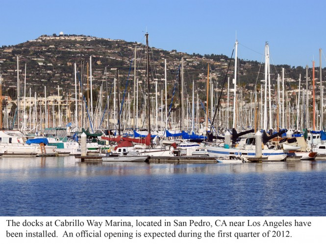 Bellingham Marine installs new docks at the new San Pedro Marina