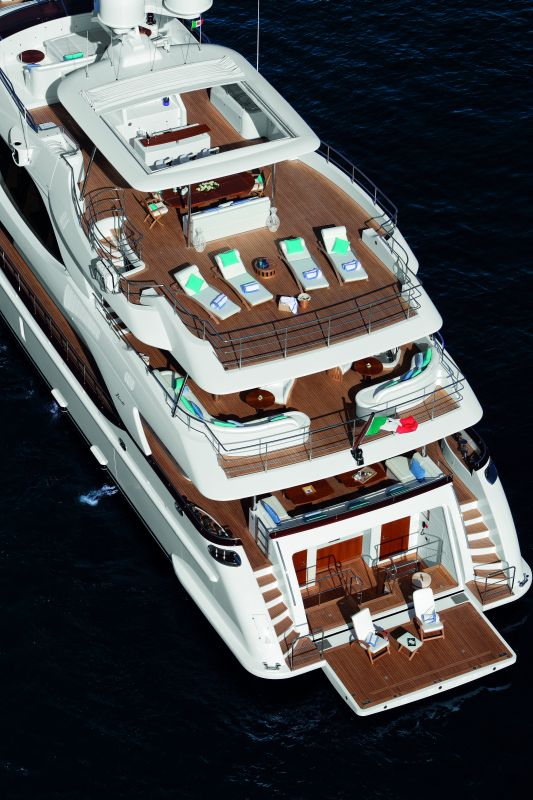 Benetti 140 Crystal superyacht from above
