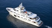 Bird&#039;s view of the E&amp;E expedition yacht by Cizgi Yachts designed by Vripack