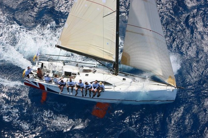 Sail yacht British Soldier, the Army Sailing Association's yacht wins the Dennis P Miller Trophy for best performance of a British yacht overseas Credit Tim Wright - www.photoaction.com