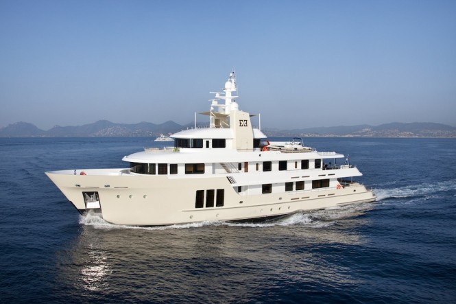 Cizgi Yachts constructed expedition charter yacht E&E designed by Vripack with interior by Art-Line Interiors