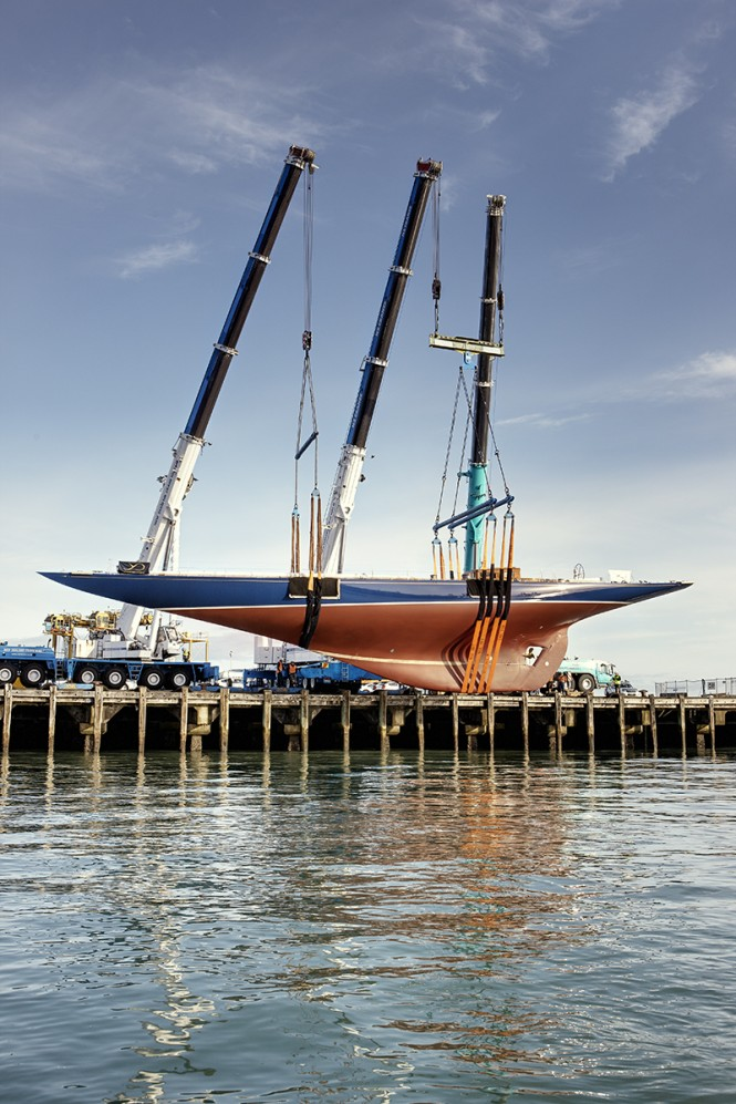 Classic J Class sailing yacht Endeavour launched after refit