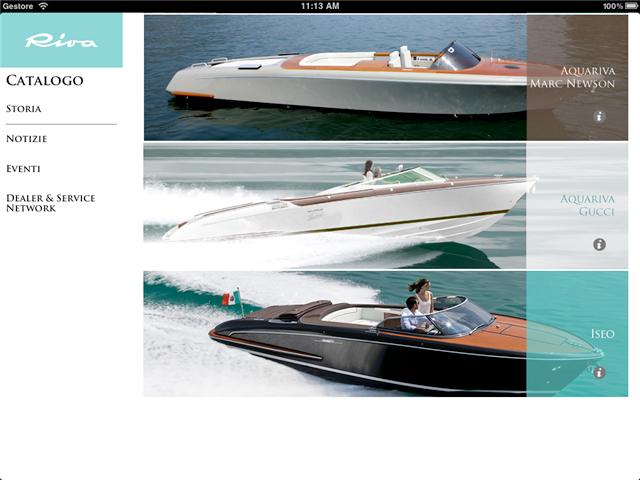 Ferretti Group iPad App for Superyachts - iRiva App