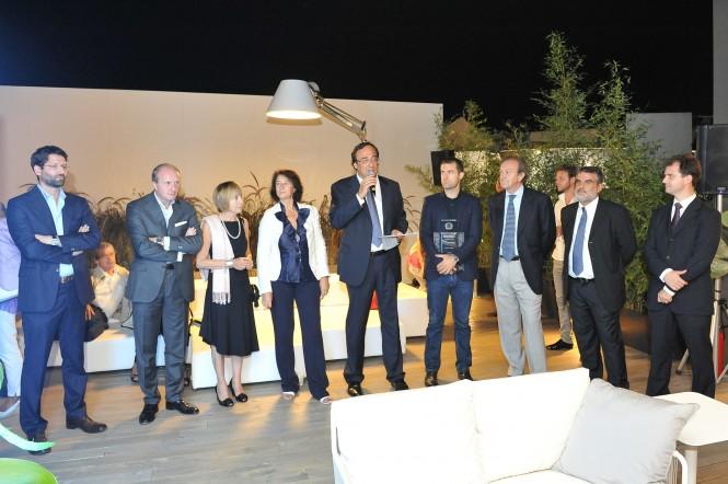From the left Pompa RODA-Boffi BOFFI-Pozzoli Bestetti LIVING DIVANI-Bocchietto ADI-Perotti President SANLORENZO-Zaniboni DORDONI ARCHITETTI-Minotti BB ITALIA-Buttiglietri SANLORENZO-Gismondi ARTEMIDE