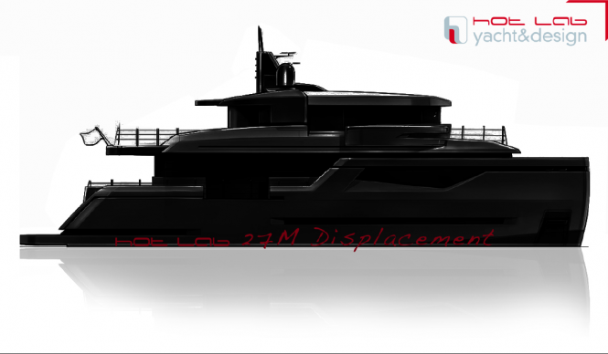Hot Lab 27M yacht in collaboration with Sergio Cutolo for the Posillipo Shipyard