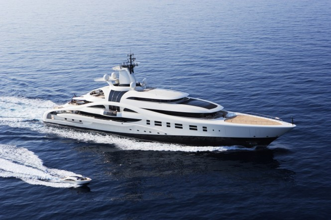 Superyacht Palladium built by Blohm & Voss designed by Micheal Leach Design