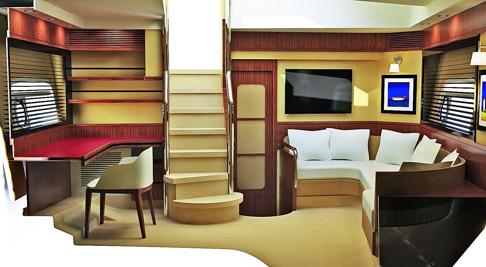 Magellano 50 Lower Deck Interior Credit Azimut Yachts