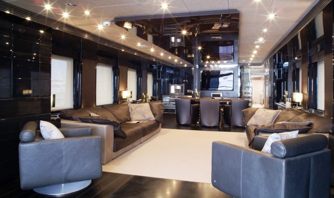 Main Saloon Of The NOOR Yacht With Interior By Hot Lab