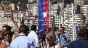 Marina Port Vell 2011 Monaco Yacht Show Press Conference, Mingling