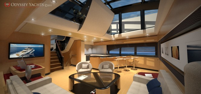 Odyssey Yachts - interior of the motor yacht Apollo 100