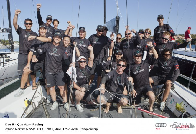 Sailing yacht Quatum Racing wins Audi TP52 World Championship © Nico Martinez WSM