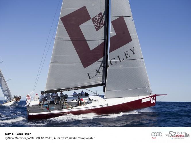Sail Yacht Gladiator 08 10 2011, Audi TP52 World Championship © Nico MartinezWSM