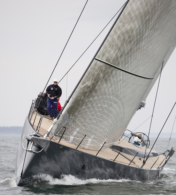 Sailing yacht Aegir bow shot – Photo Credit Billy Black