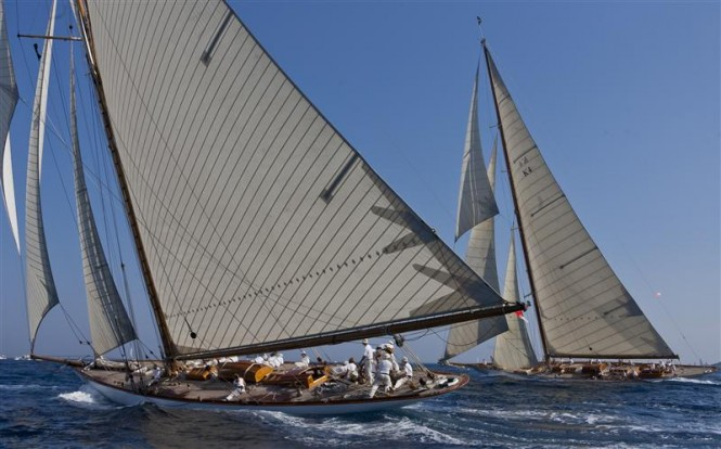 Sailing yacht MARIQUITA and CAMBRIA Photo By Rolex Carlo Borlenghi