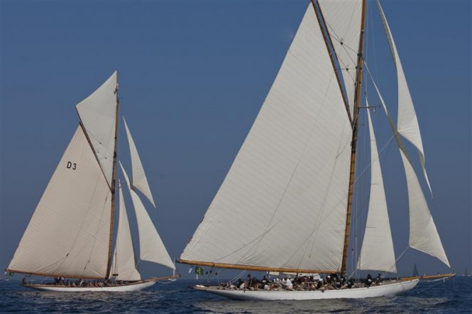 Sailing yacht TUIGA and MARISKA - Photo By Rolex Carlo Borlenghi