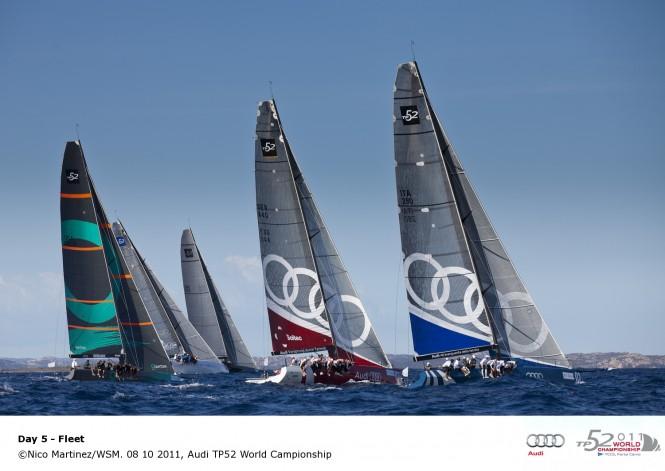 Sailing yacht fleet 08 10 2011, Audi TP52 World Championship © Nico MartinezWSM