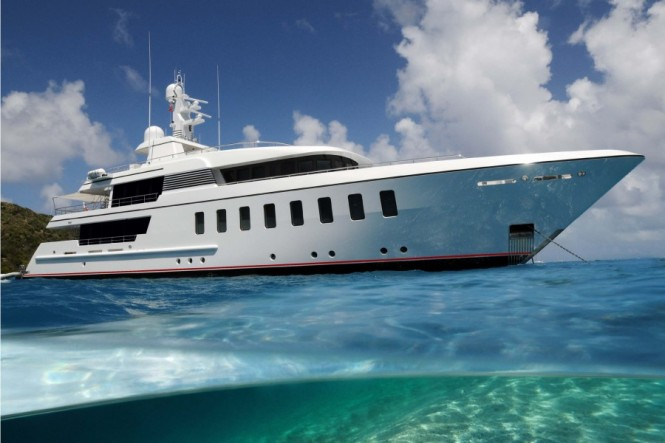 Superyacht Helix the 5th F45 Vantage motor yacht launched by Feadship