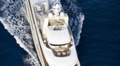 View from the top at the E&E charter yacht designed by Vripack with interior by Art-Line Interiors