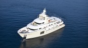 View of the Vripack designed explorer yacht E &amp; E available for charter