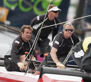 Into the endgame of the 2011 Extreme Sailing Series in Singapore Marina Bay