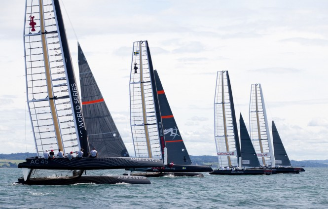34th America´s Cup teams - Photo Ivor Wilkins