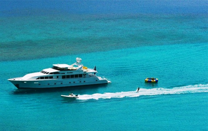 The 36m Broward 120 super yacht FREEDOM was originally built in 1994 and ...