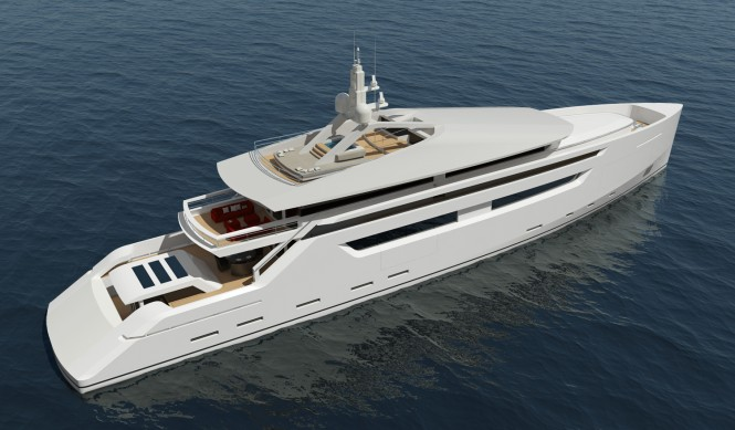 The 49m luxury yacht is a wide body yacht with the ...