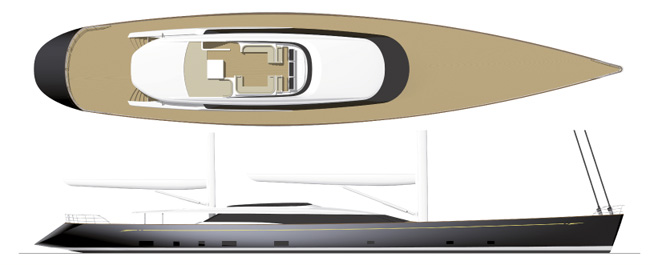 56.4 m Mondango II sailing yacht (AY46) to be built by Alloy Yachts