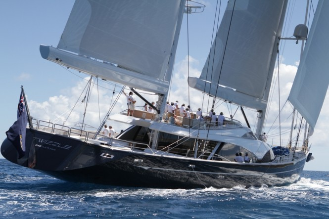 57.5m Royal Huisman luxury yacht Twizzle