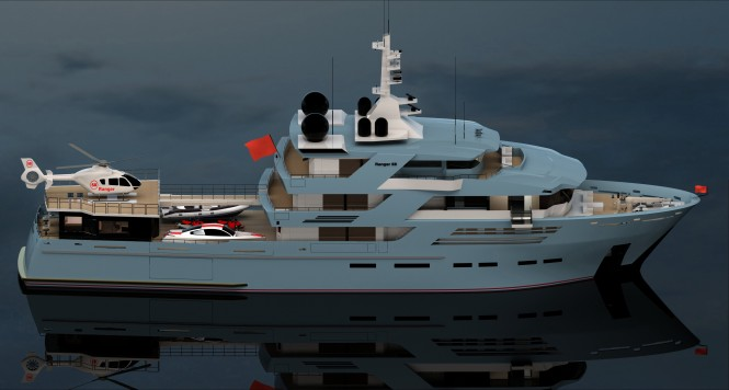 The 58m Explorer motor yacht Ranger by ISA and Egg and Dart Design features ...