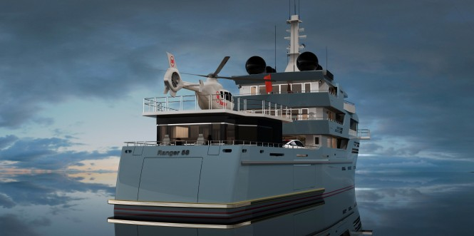 58m Explorer motor yacht Ranger by ISA and Egg and Dart Design