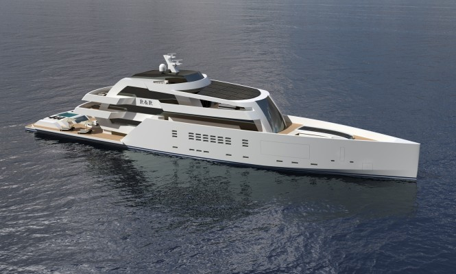 75m R & R superyacht by Nick Mezas Yacht Design