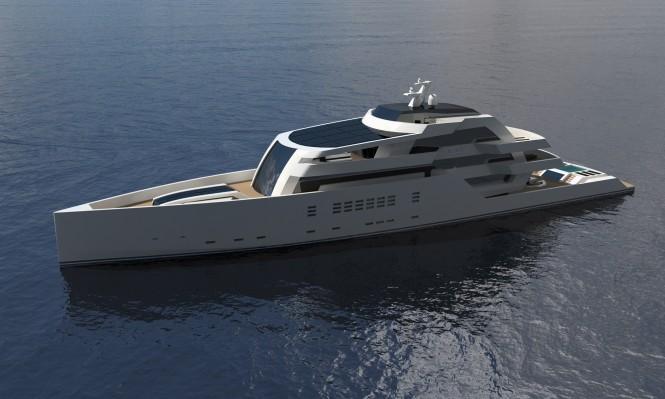 75m motor yacht R & R by Nick Mezas Yacht Design
