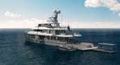 Aquos Yachts Explorer yacht Star Fish - tender platform