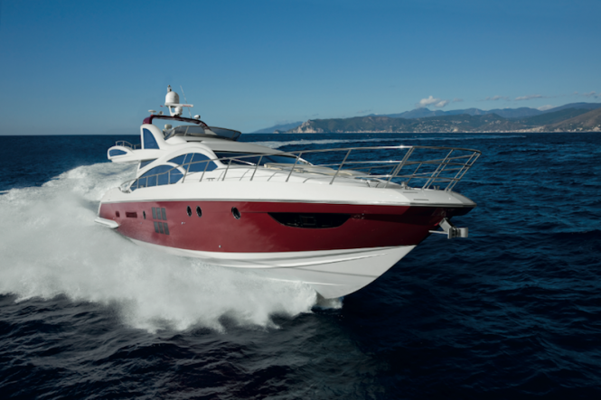 Present as a preview for the Middle East is the 20m motor yacht Azimut 64, ...