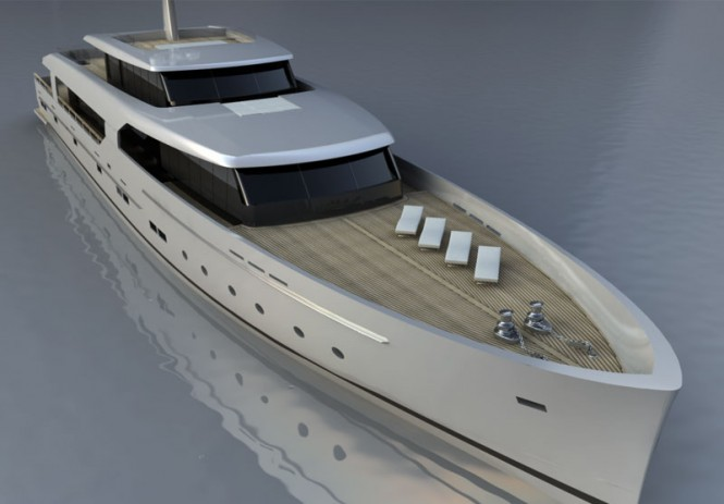 BSD147 Logica Superyacht - frontview