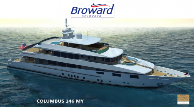 Columbus 146 Expedition Yacht by Broward Shipyard and Donald Starkey Design