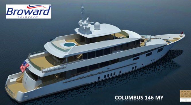 Columbus 146 expedition yacht by Broward Shipyard in collaboration with Donald Starkey