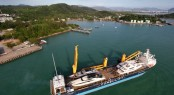 Combi-Dock-1-owned-by-Combi-Lift-arriving-in-Phuket-Thailand-with-7-superyachts-onboard