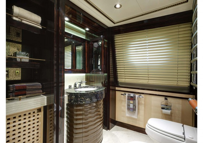 Donald Starkey designed Master En-suite of the Broward motor yacht Columbus 146