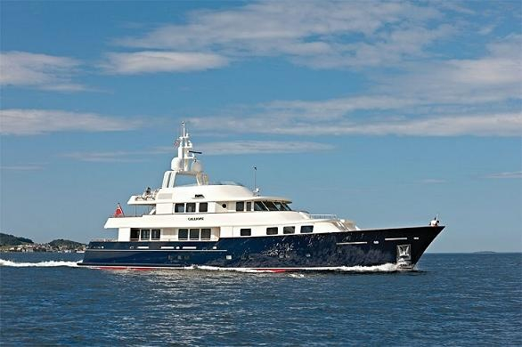 Double winner 42m motor yacht Calliope by Holland Jachtbouw
