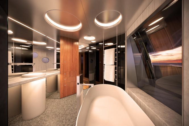 Expedition Superyacht STAR FISH - Owner's Bathroom - Aquos Yachts