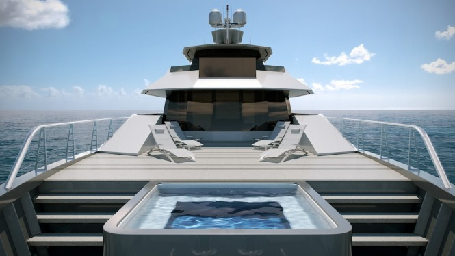 Expedition Yacht STAR FISH from Aquos Series - Owners Deck Pool