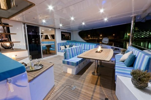 Exterior of the Sunreef 70 catamaran yacht ANINI